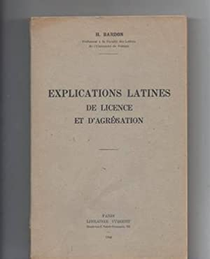 Explications latines de licence et d'agregation