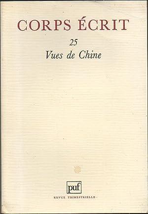 Revue CORPS ECRIT N° 25 : VUES: Collectif : Georges-Emmanuel