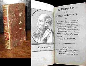 L'ESPRIT DES ANCIENS PHILOSOPHES - TOME 3: ANONYME