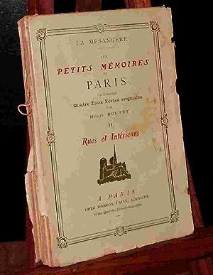 RUES ET INTERIEURS: LA MESANGERE Pierre-Antoine