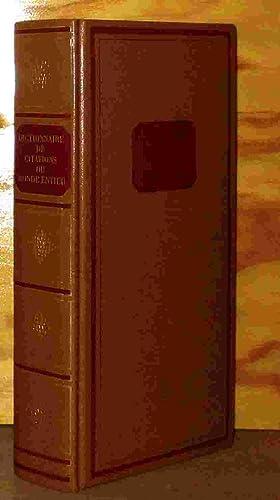 DICTIONNAIRE DE CITATIONS DU MONDE ENTIER: MONTREYNAUD Florence -