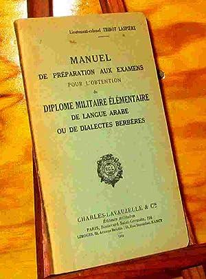 MANUEL DE PREPARATION AUX EXAMENS POUR L': LIEUTENANT COLONEL TRIBOT
