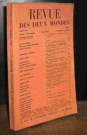 REVUE DES DEUX MONDES - MAI 1980: COLLECTIF
