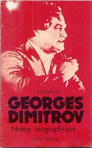 GEORGES DIMITROV. Notice biographique: RADENKOVA Petra