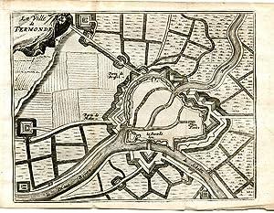 La ville de Termonde (Belgique) , plan: TERMONDE
