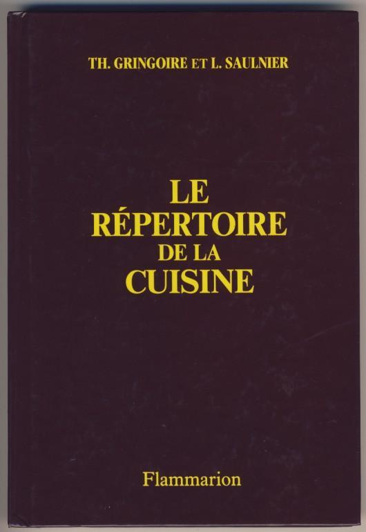 Le répertoire de la cuisine flammarion