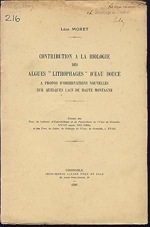 """Contribution à la biologie des algues """"lithophages"""": Moret, Léon"""