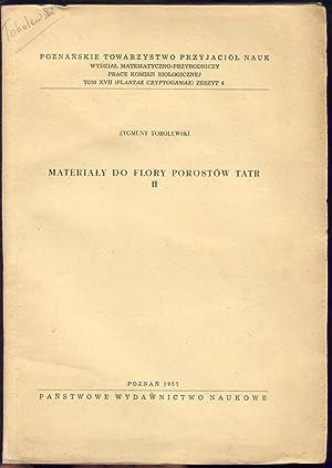 Materialy do flory porostow tatr. Partie 2.: Tobolewski, Zygmunt