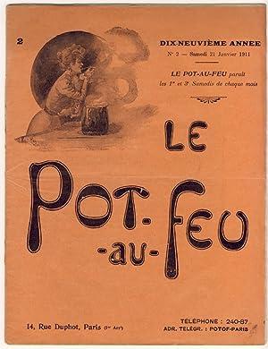Le Pot-au-Feu. Dix-neuvième année. N°2 - Samedi: Anonyme