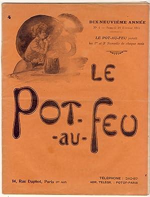 Le Pot-au-Feu. Dix-neuvième année. N°4 - Samedi: Anonyme