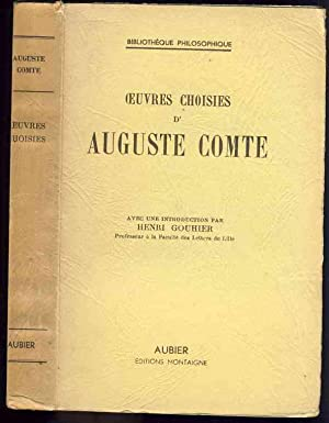 Oeuvres choisies d'Auguste Comte: Auguste Comte