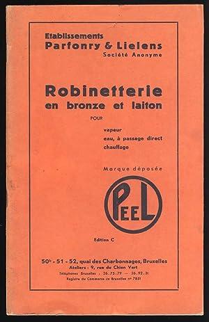 Catalogue : Robinetterie en bronze et laiton: Etablissements Parfonry &