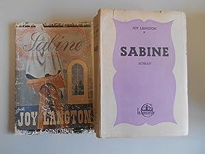 Sabine L'étrange histoire d'une jeune femme sculpteur: Langton, Joy