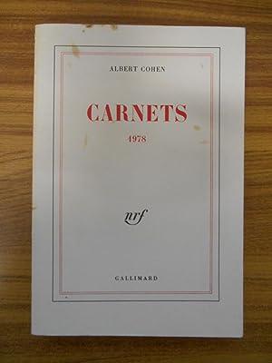 Carnets 1978 / EO / Cohen, Albert: ALBERT COHEN