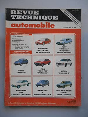 RTA N°496 Spécial evolutions Citroën BX GTI: Coll