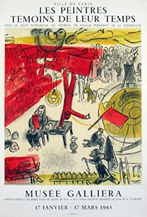 Révolution - Original Lithograph Poster By CHAGALL