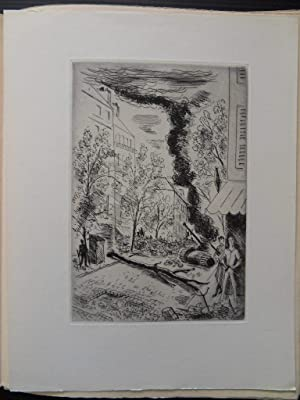 Jours de Gloire - illustrated with one original ETCHING and two small lithographs by PICASSO, ...