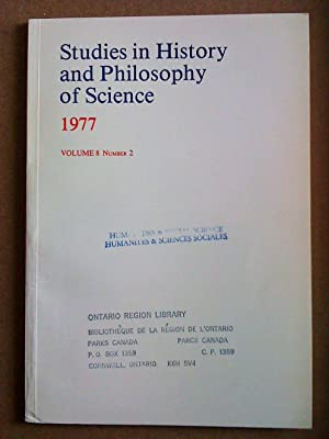 Studies in History and Philosophy of Science - volume 8, number 2 - 1977