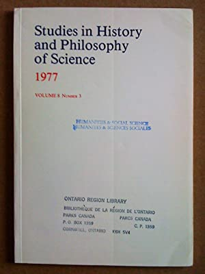 Studies in History and Philosophy of Science - volume 8, number 3 - 1977