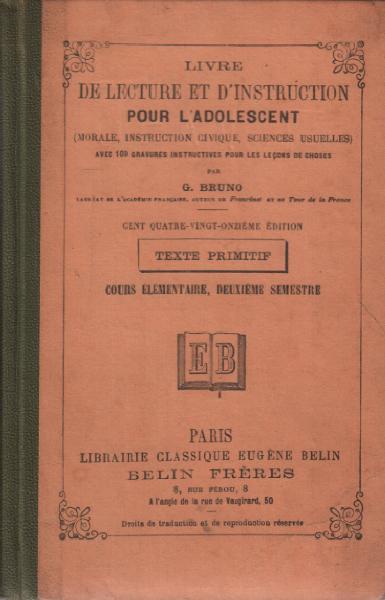 Livre De Lecture Et D Instruction Pour
