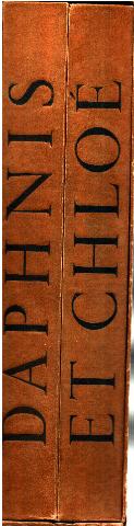 Daphnis et Chloé. Illustrations de Louis Touchagues. Traduction d'Amyot revue par Paul-Louis Courrier/ 2 tomes Longus [ ]   in4 sous emboitage. en feuilles sous chemise. Etat correct