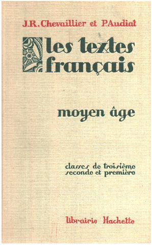 Les Textes Francais Moyen Age Classe De