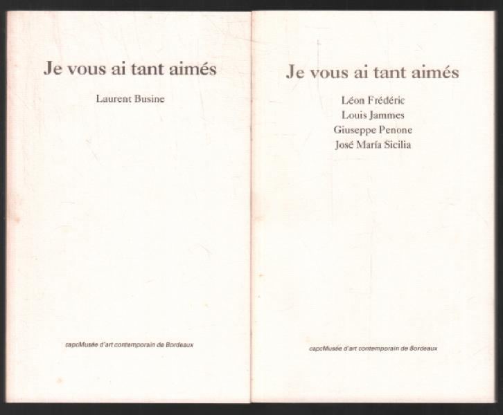 Je vous ai tant aimés:complet en 2 tomes - Léon Frédéric, Louis Jammes, Giuseppe Penone, José María Sicilia