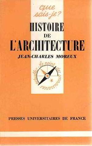 Histoire de l'architecture: Moreux Jean Charles