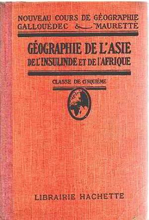 Geographie de l'asie de l'insulinde et de: Gallouedec /maurette
