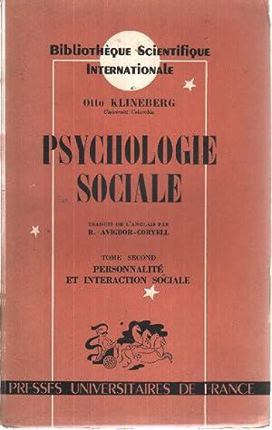 Psychologie sociale / tome 2 : personnalite: Klineberg Otto