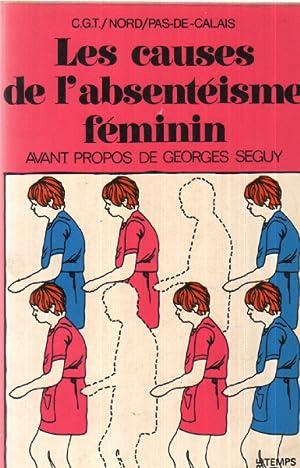 Les causes de l'absenteisme feminin: CGT Nord Pas