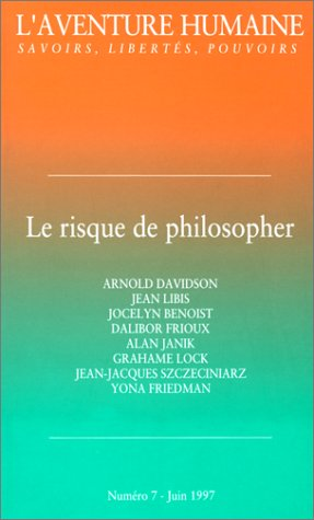 Le risque de philosopher