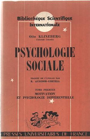 Psychologie sociale: Klineberg Otto