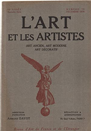 L'art et les artistes n°72: Dayot Armand