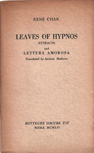 Leaves of hypnos ( extracts ) and: Char René