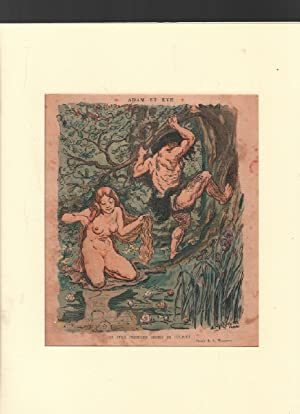 Adam et eve / dessin de willette