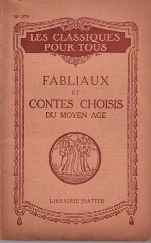 Fabliaux et contes choisis du moyen age