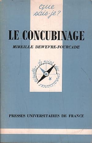 Le concubinage: Dewevre-fourcade Mireille