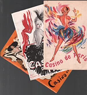 3 programmes divers du casino de paris / 1951-1955 et sd