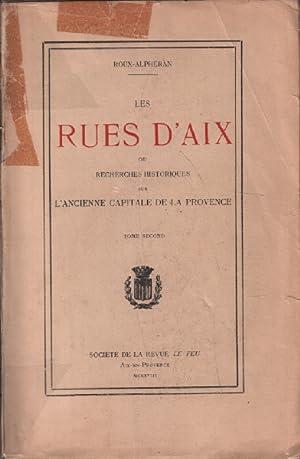 Les rues d'aix ou recherches historiques sur: Roux-alphéran