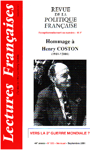 Hommage a henry coston 1910-2001