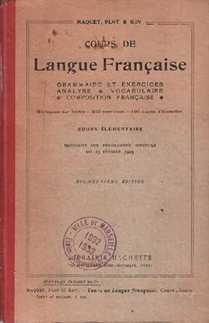 Cours de langue française: Maquet / Flot