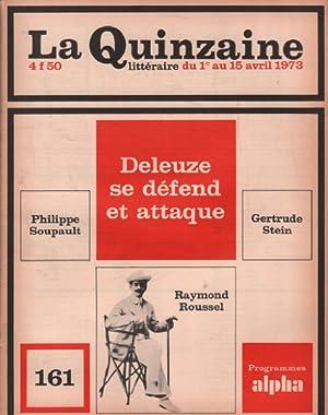 La quinzaine litteraire n° 161 / deleuze: Nadeau Maurice (