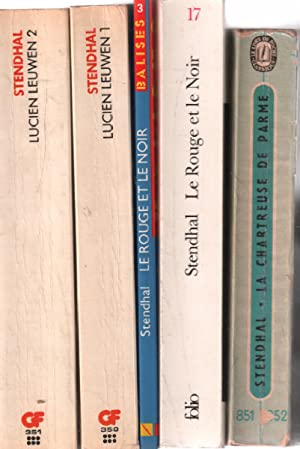 Lot de 5 livres / lucien leuwen: Stendhal