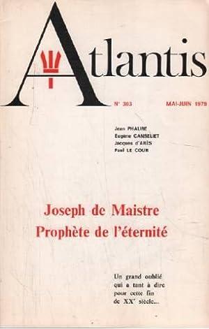 Joseph de maistre prophète de l'éternité: Phaure Jean /