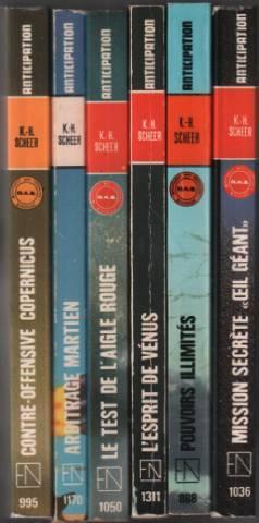 Lot de 6 livres de cet auteur: Scheer K.H.