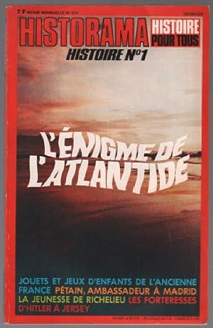 Historama histoire n°1 : l'énigme de l'atlantide,: Collectif