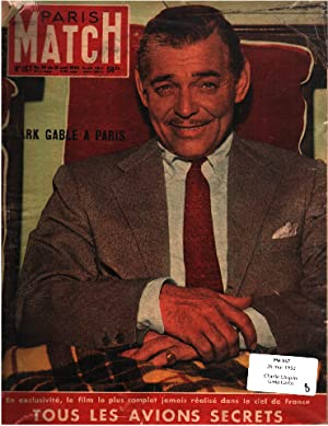 Paris match n° 167 / 26 mai 1952 / charlie chaplin - greta garbo - clarke gable