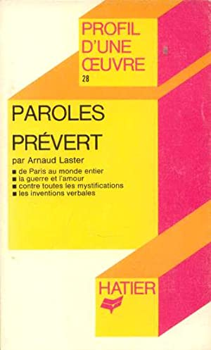Prévert, Paroles