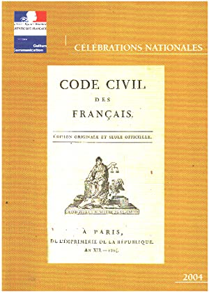 Celebrations nationales 2004 - code civil des francais